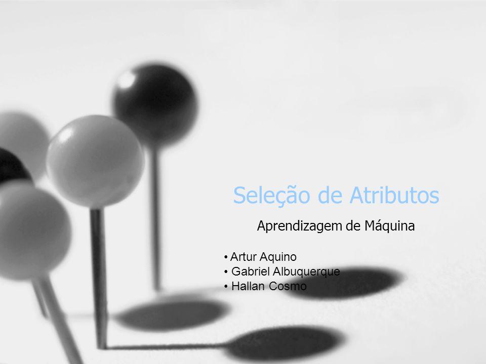 Seleção de Atributos Aprendizagem de Máquina Artur Aquino Gabriel Albuquerque Hallan Cosmo