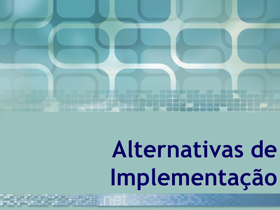 Alternativas de Implementação