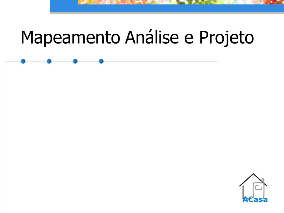 Mapeamento Análise e Projeto