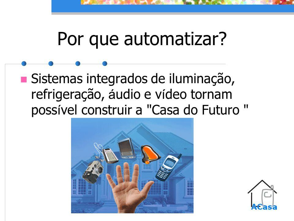 Por que automatizar? Sistemas integrados de iluminação, refrigeração, á udio e v í deo tornam poss í vel construir a