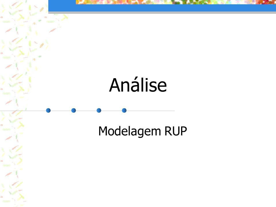 Análise Modelagem RUP