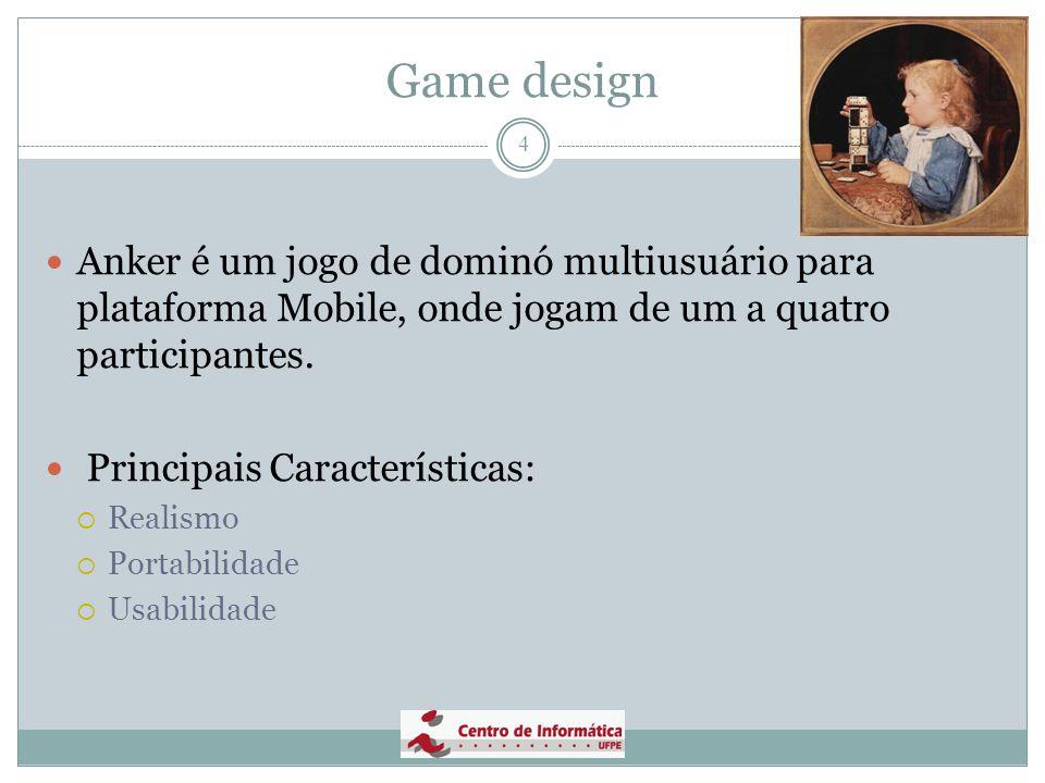 Game design 5 Público Alvo:  Jovens com idade superior a 6 anos e que eventualmente gostem de jogar dominó.