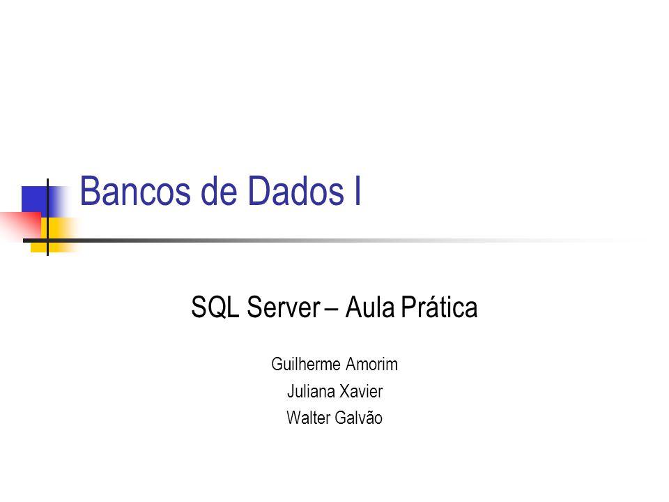 SQL Server - Aula Prática12 Manutenção de Scripts Exercício Gerar batch file com script para recriação das 3 tabelas: pessoa, turma e aluno.