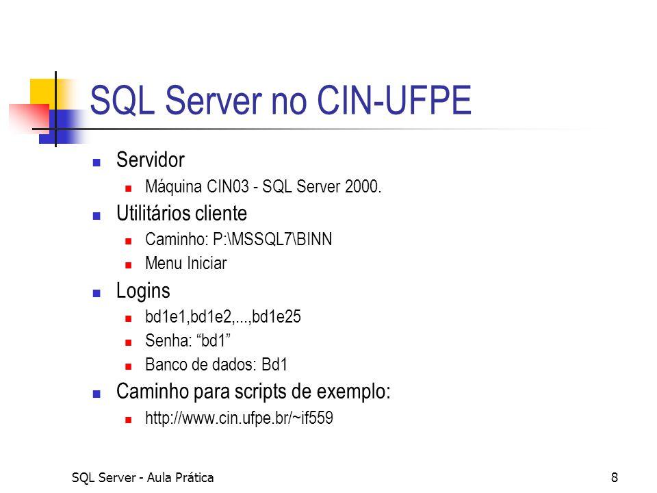 SQL Server - Aula Prática9 Exercício – rodando um script 1.