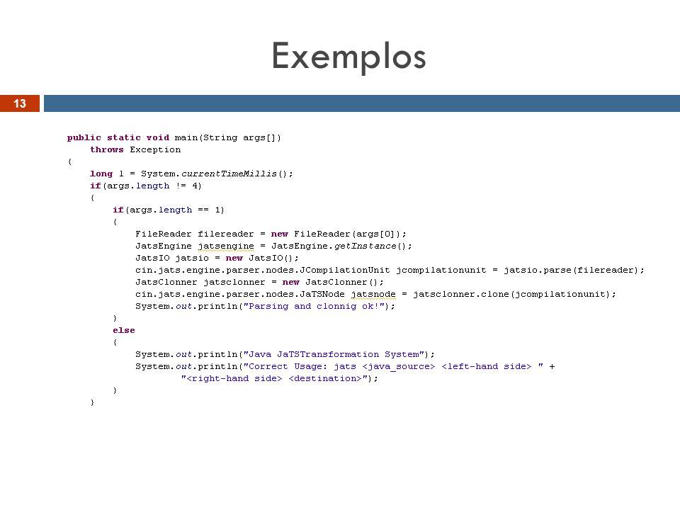 Exemplos 13