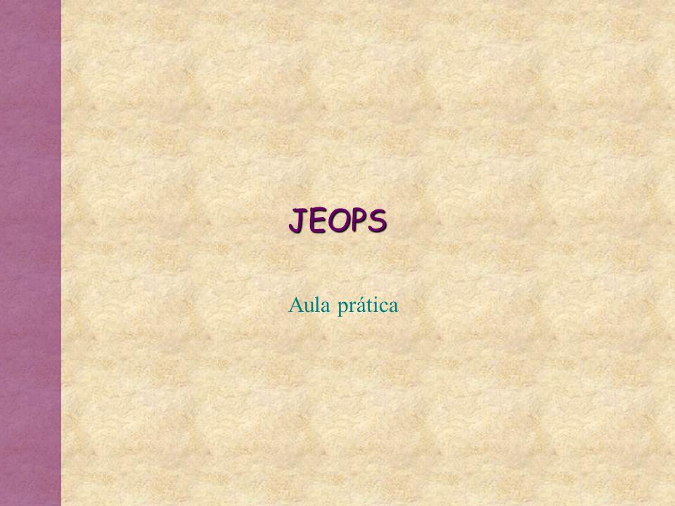 JEOPS Aula prática