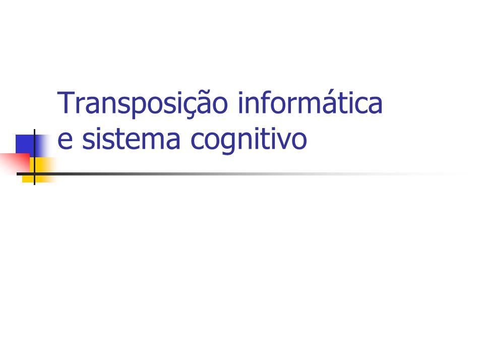 Transposição informática e sistema cognitivo