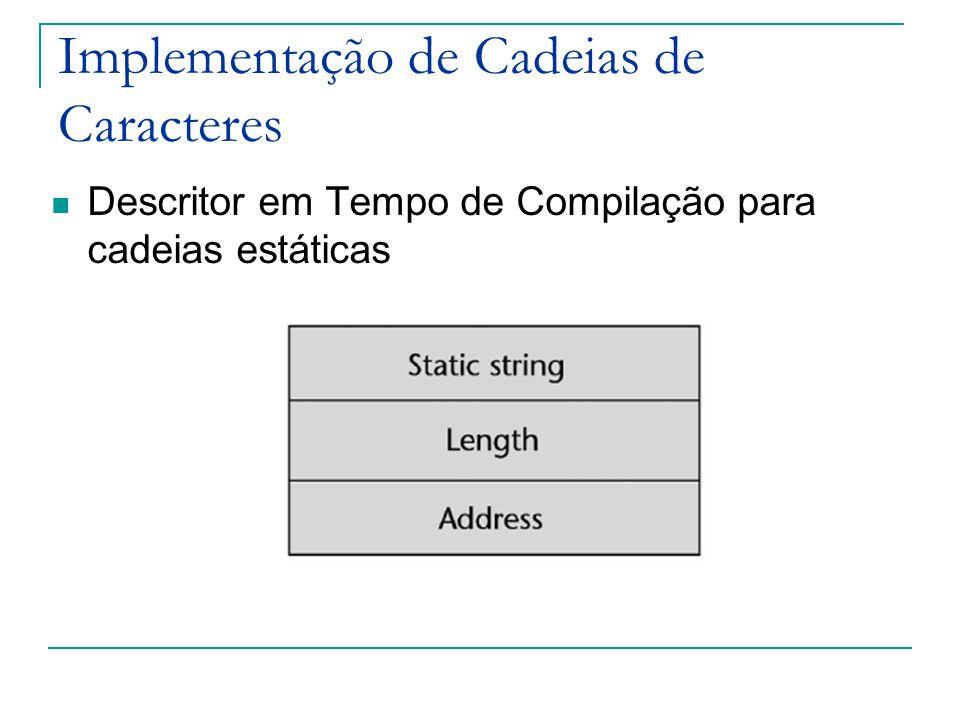 Descritor em Tempo de Compilação para cadeias estáticas