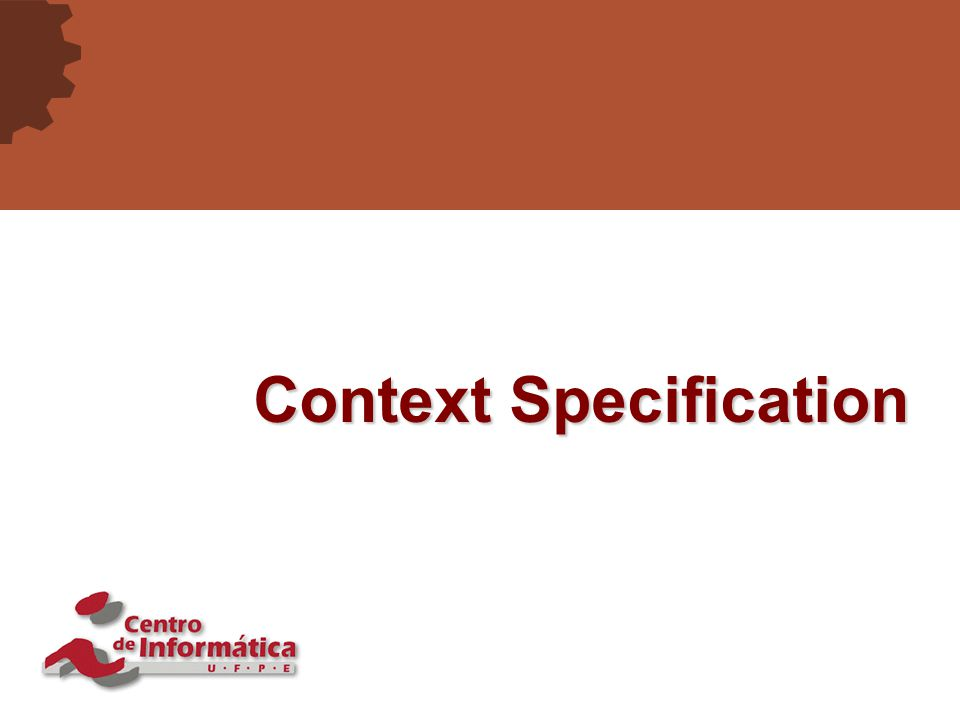 16 Context Specification