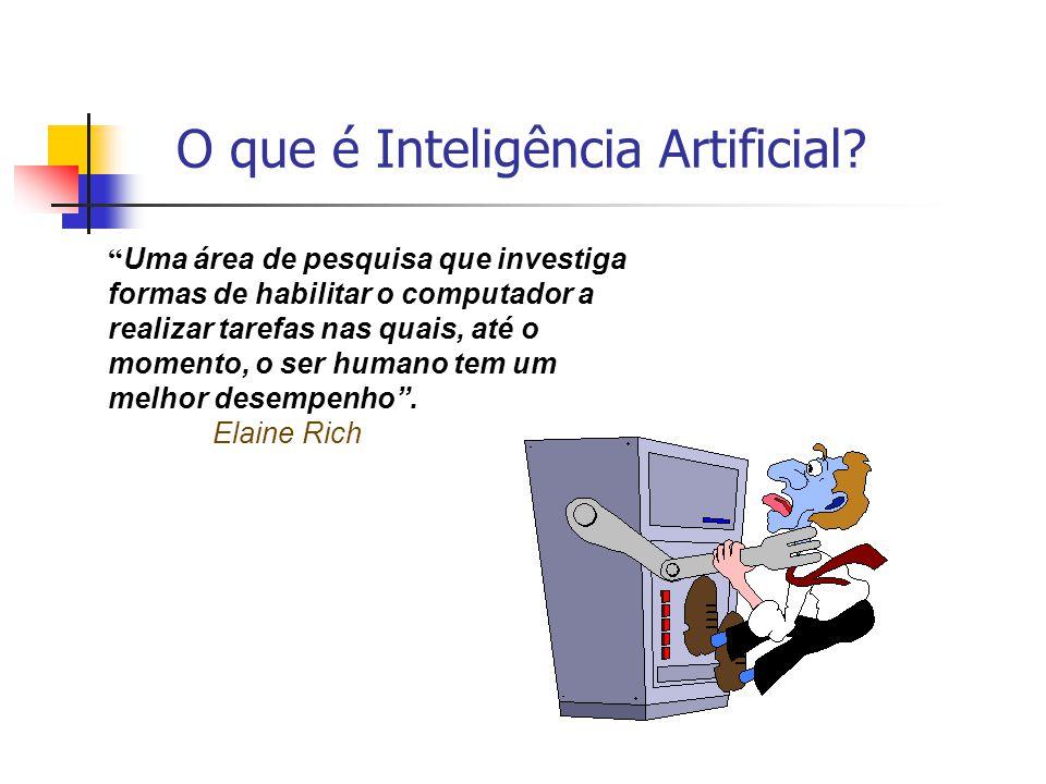 """11 """" Uma área de pesquisa que investiga formas de habilitar o computador a realizar tarefas nas quais, até o momento, o ser humano tem um melhor desem"""