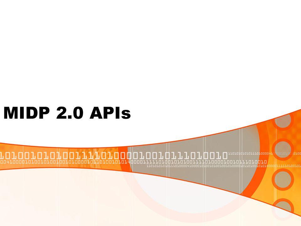 MIDP 2.0 APIs