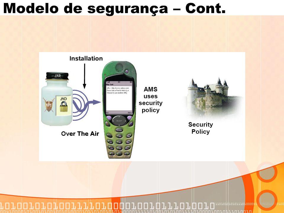 Modelo de segurança – Cont.