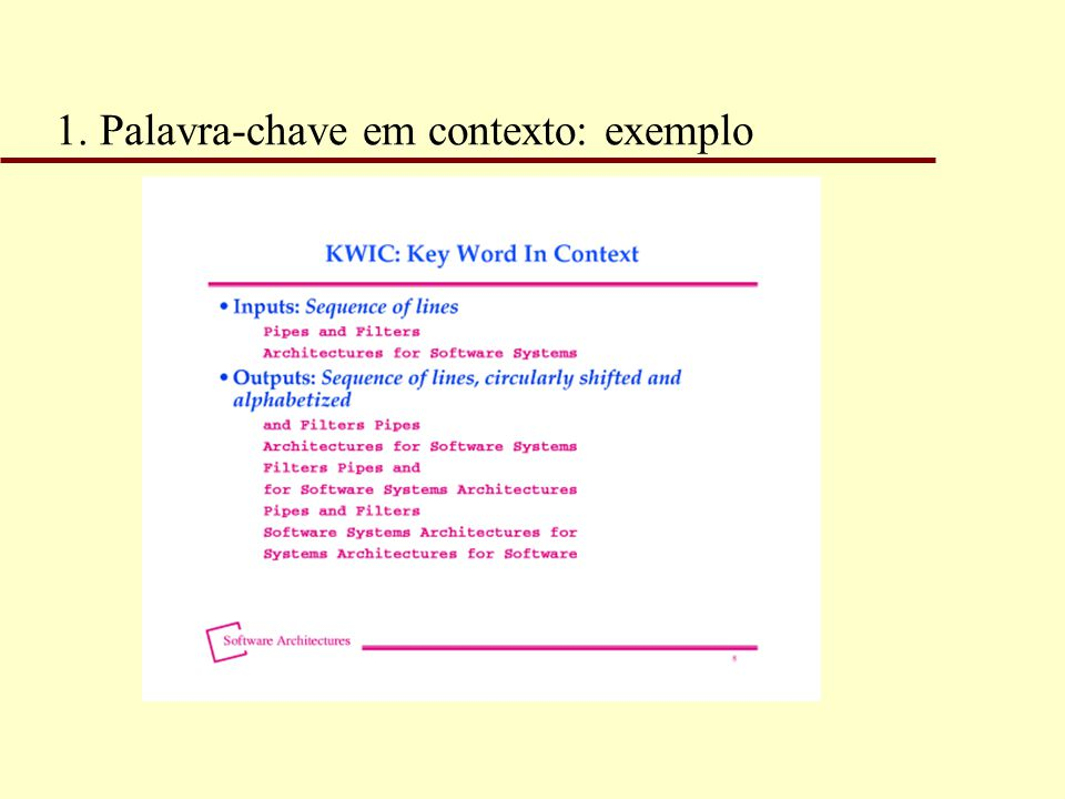 1. Palavra-chave em contexto: exemplo