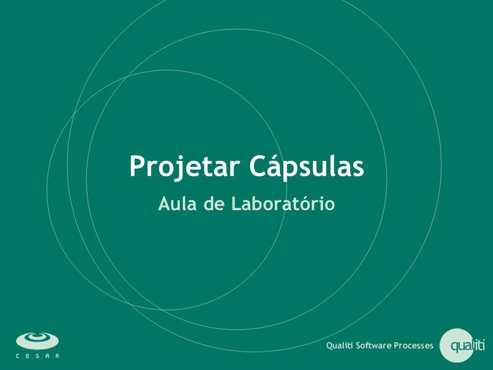 Projetar Cápsulas Aula de Laboratório