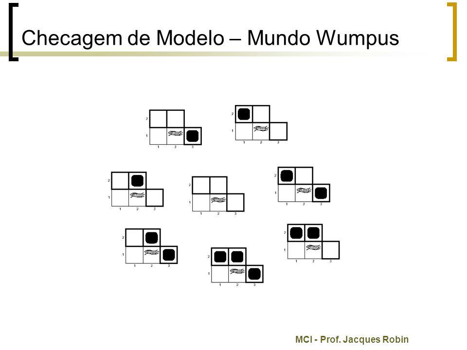 MCI - Prof. Jacques Robin Checagem de Modelo – Mundo Wumpus