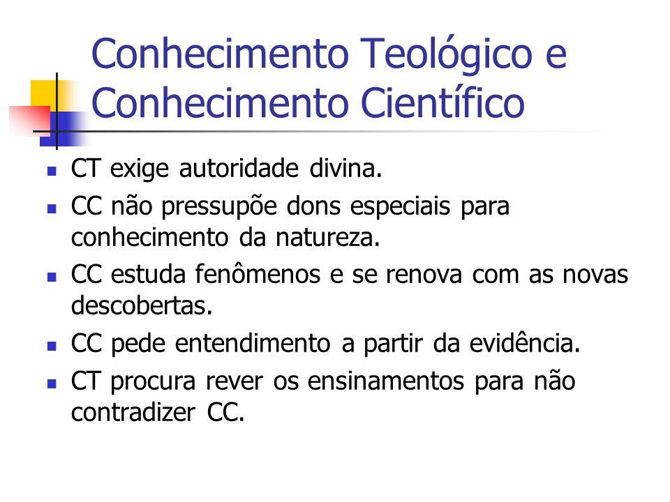 Conhecimento Teológico e Conhecimento Científico CT exige autoridade divina.