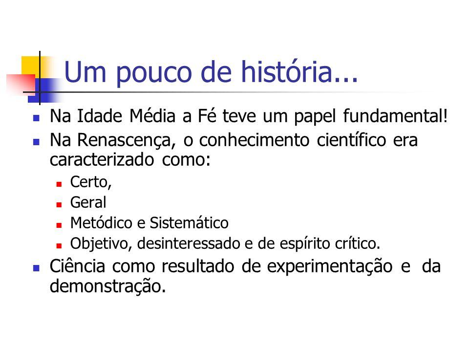 Mais História A Investigação científica passa por fases...