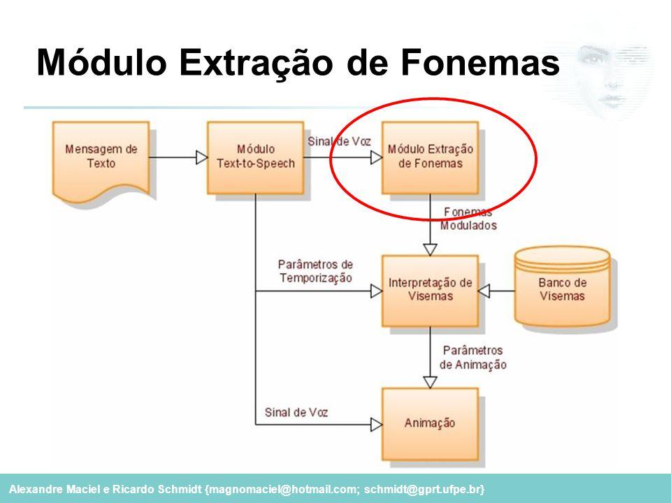 Alexandre Maciel e Ricardo Schmidt {magnomaciel@hotmail.com; schmidt@gprt.ufpe.br} Módulo Extração de Fonemas