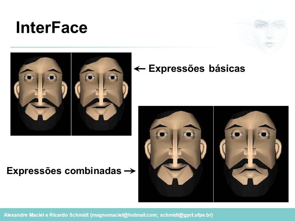 Alexandre Maciel e Ricardo Schmidt {magnomaciel@hotmail.com; schmidt@gprt.ufpe.br} InterFace Expressões básicas Expressões combinadas