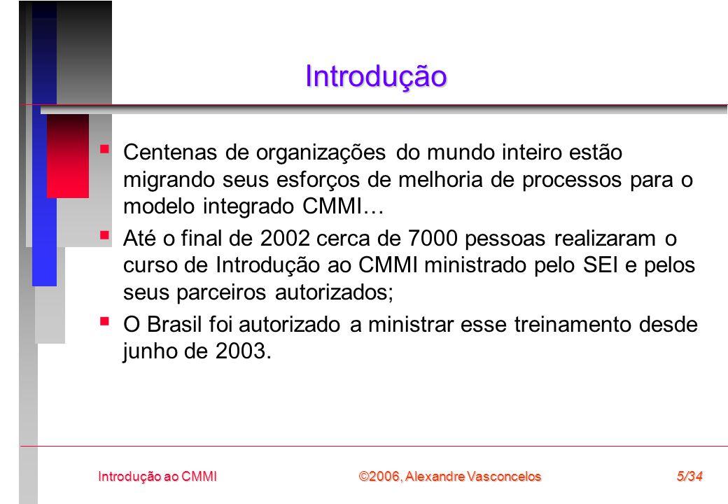©2004, Alexandre Vasconcelos Introdução ao CMMI 26/34 Experiência de Implantação do CMMI em Pequenas Empresas
