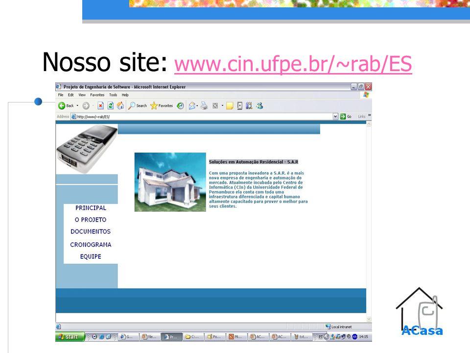 Nosso site: www.cin.ufpe.br/~rab/ES www.cin.ufpe.br/~rab/ES