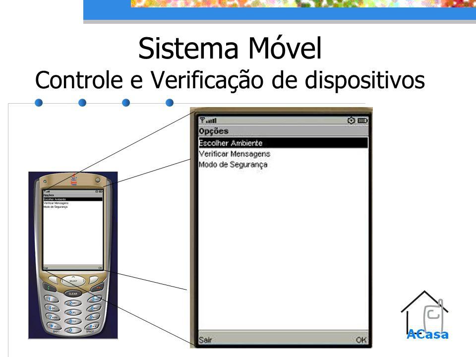 Sistema Móvel Controle e Verificação de dispositivos