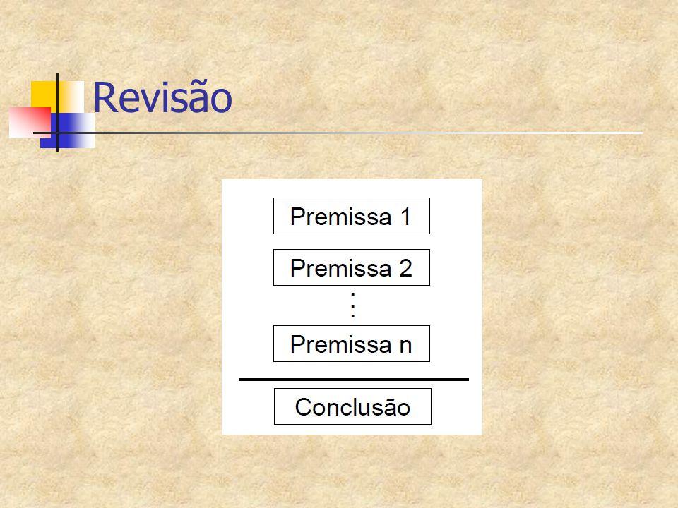 Interpretação de uma fórmula (cont.) Se E = ((  P)^Q)  (RvP1) e H=(E  P) e as interpretações I e J I[P]=T,I[Q]=F,I[R]=T,I[P1]=F I[H]=.
