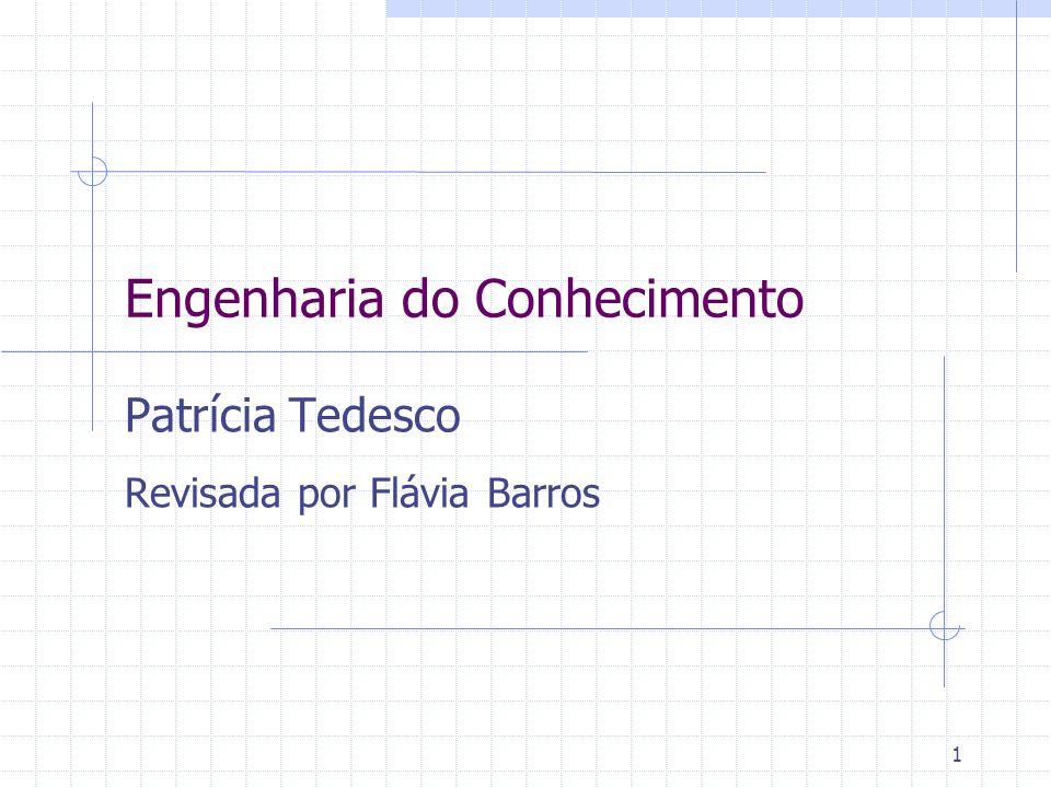 1 Engenharia do Conhecimento Patrícia Tedesco Revisada por Flávia Barros