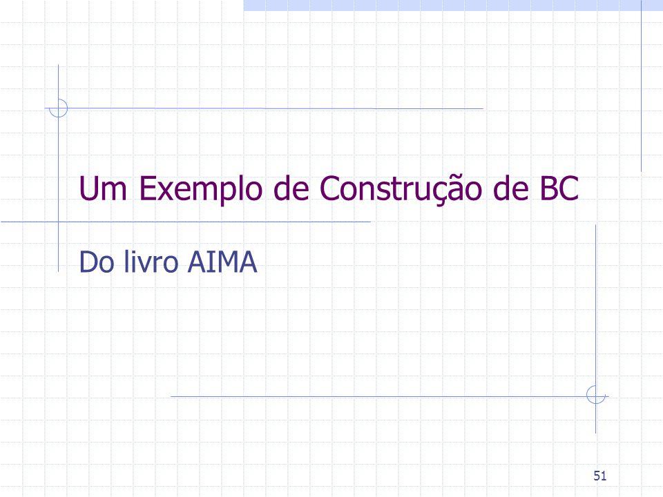 51 Um Exemplo de Construção de BC Do livro AIMA