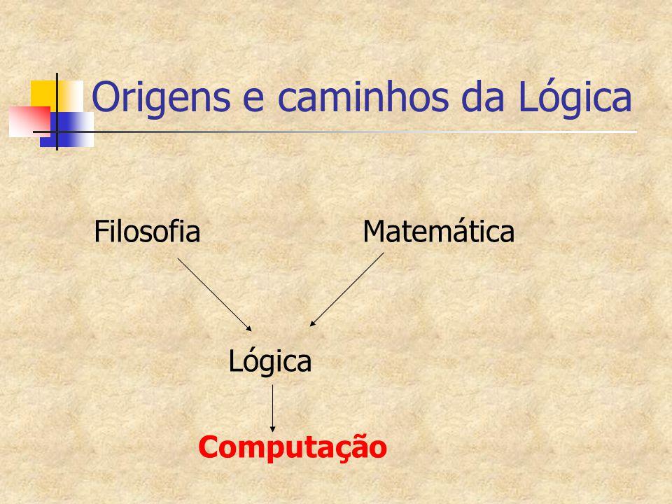 Origens e caminhos da Lógica Filosofia Matemática Lógica Computação