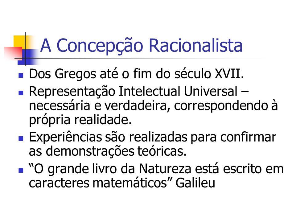 A Concepção Racionalista Dos Gregos até o fim do século XVII.