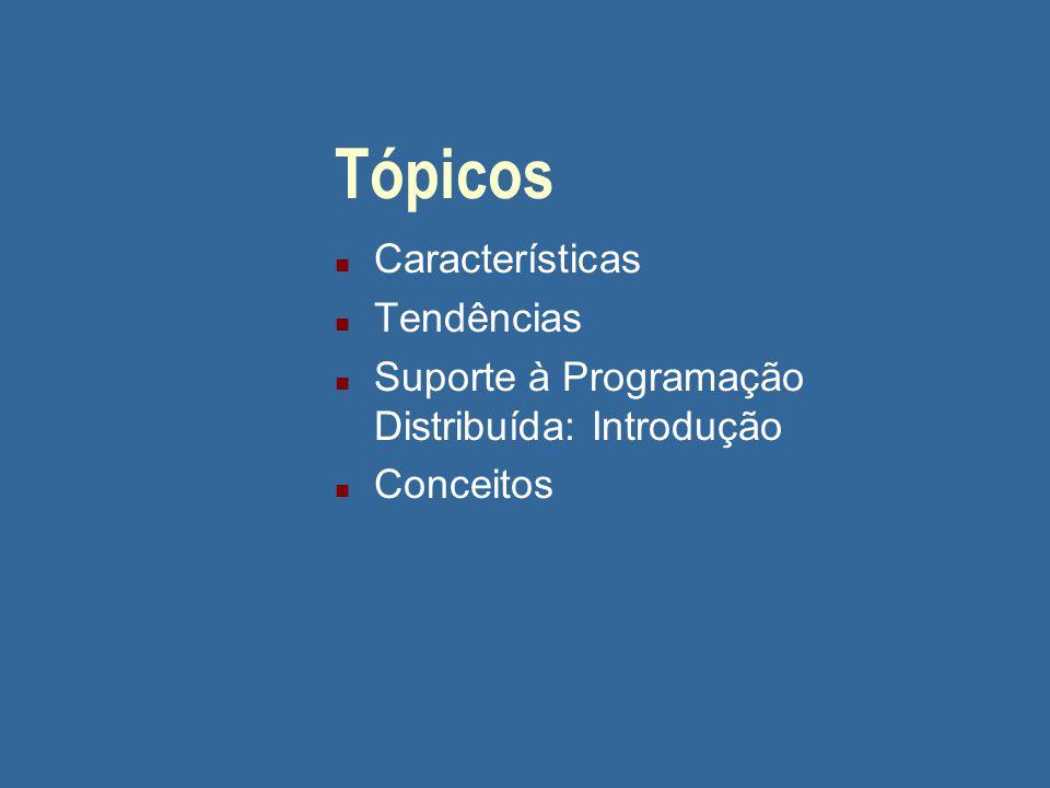 Caracterização de SD n Características principais -> benefícios: u Compartilhamento de recursos u Flexibilidade u Concorrência (cont.)