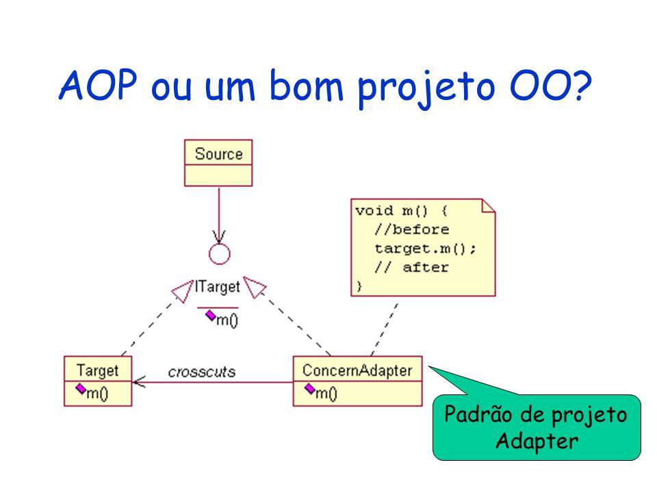 AOP ou um bom projeto OO? Padrão de projeto Adapter