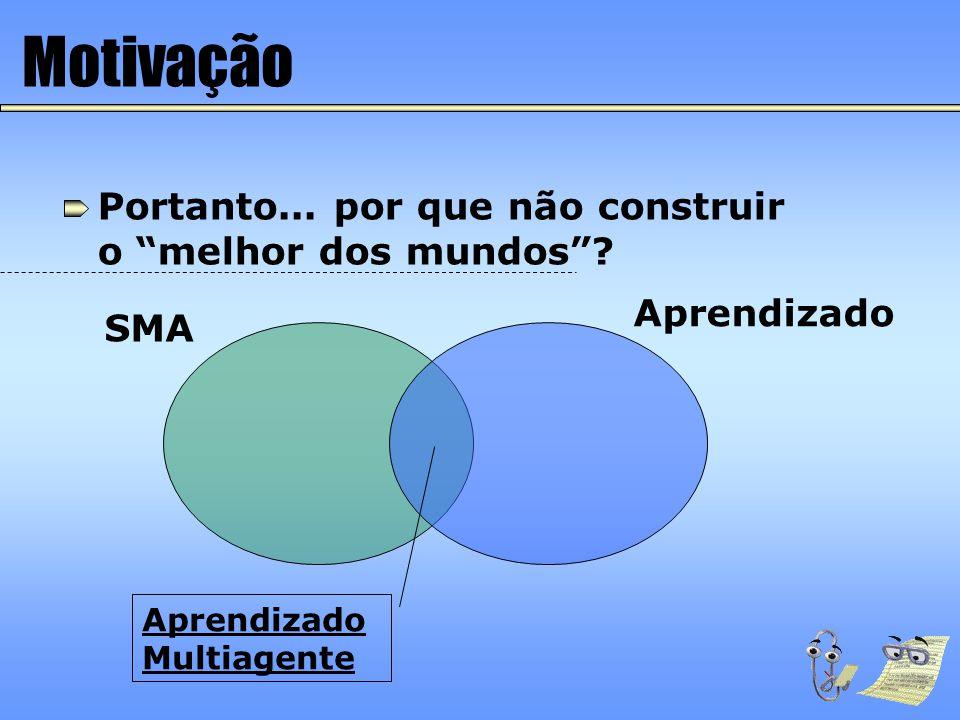 Características do Aprendizado em SMA Objetivo Compatibilidade dos objetivos: complementares ou conflitantes.
