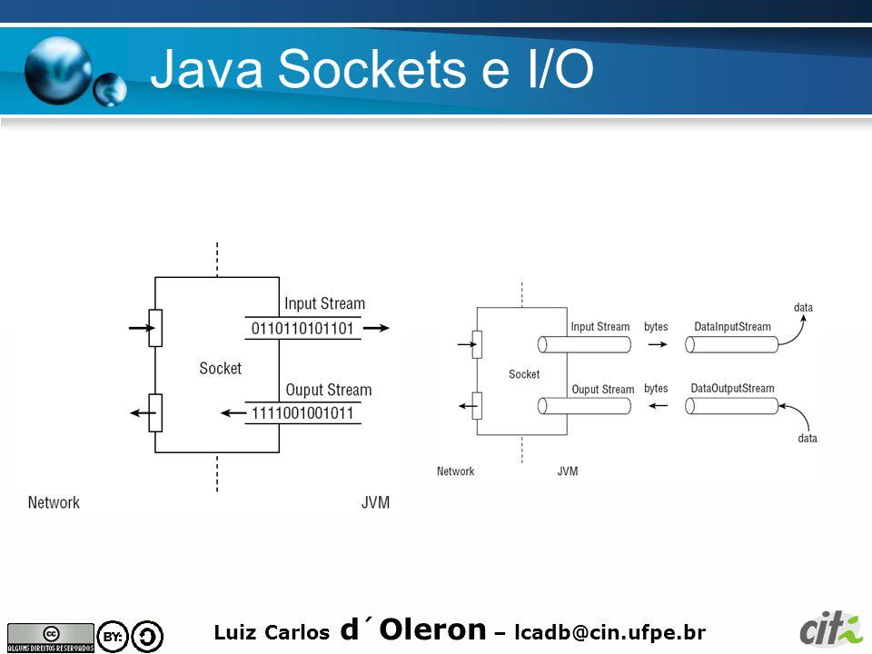 Luiz Carlos d´Oleron – lcadb@cin.ufpe.br Java Sockets e I/O