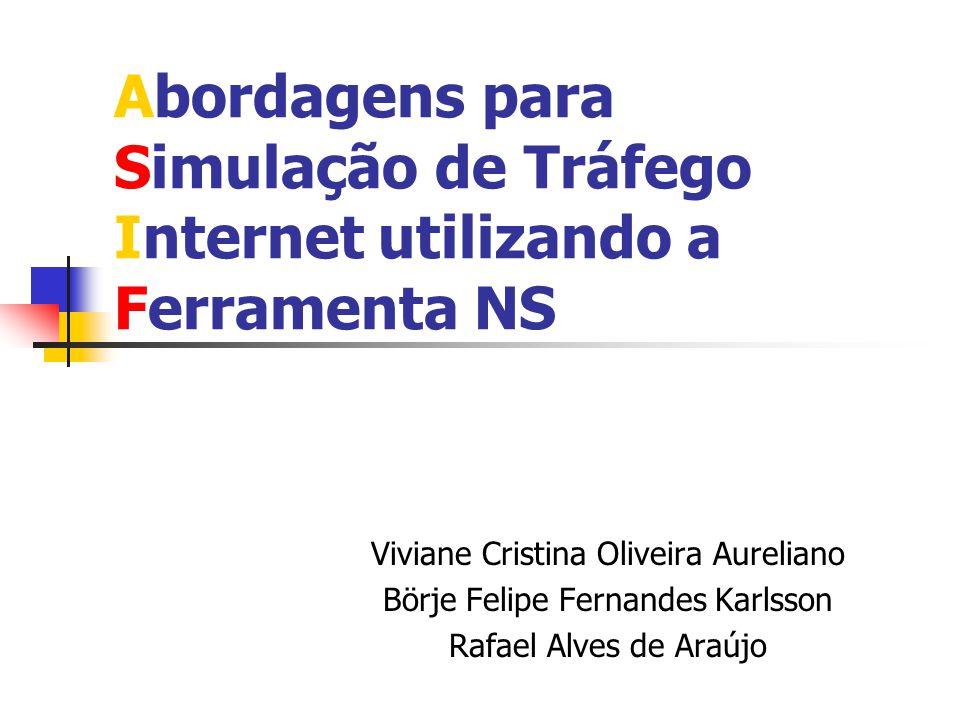 Abordagens para Simulação de Tráfego Internet utilizando a Ferramenta NS Viviane Cristina Oliveira Aureliano Börje Felipe Fernandes Karlsson Rafael Al