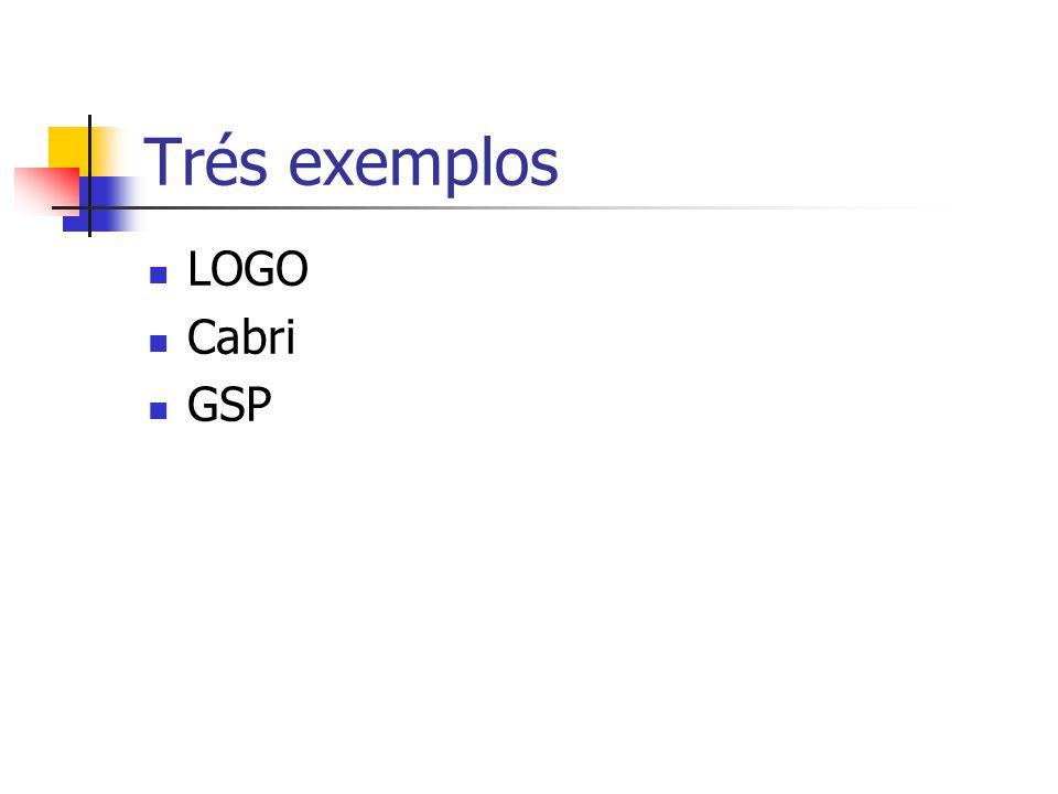 Trés exemplos LOGO Cabri GSP