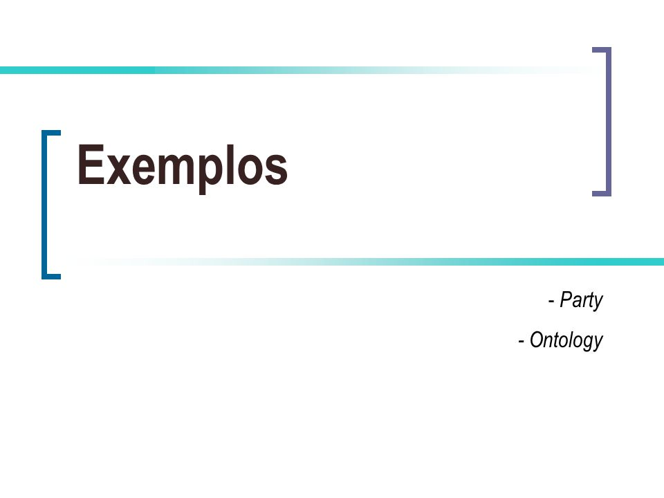 Exemplos - Party - Ontology