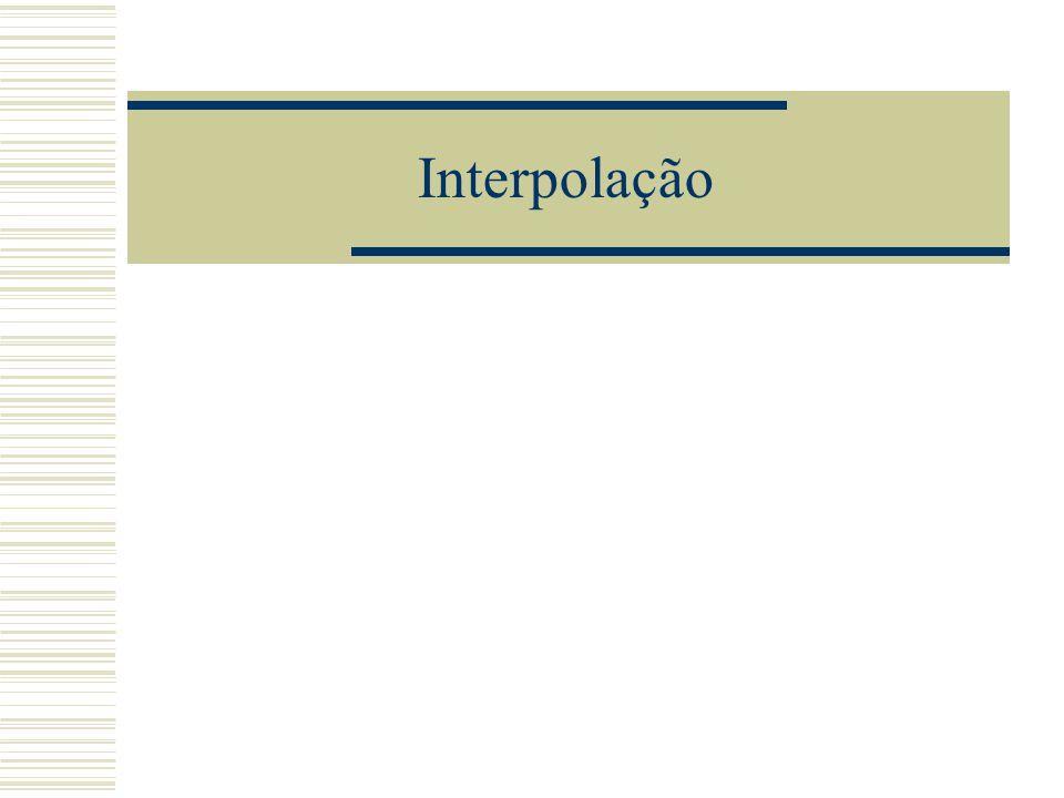 Interpolação polinomial: teorema  Em outros termos podemos dizer que: Existe um único polinômio p n (x) de grau  n tal que p n (x k )=f(x k ), k=0,1,...,n desde que x i  x j por j  k.