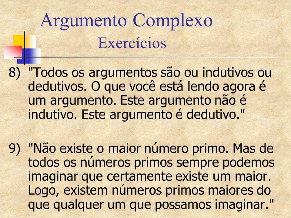 Argumento Complexo Exercícios 8)