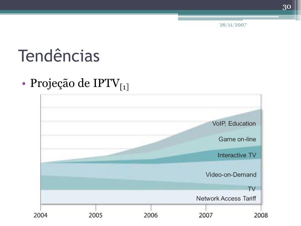 Tendências Projeção de IPTV [1] 30 26/11/2007