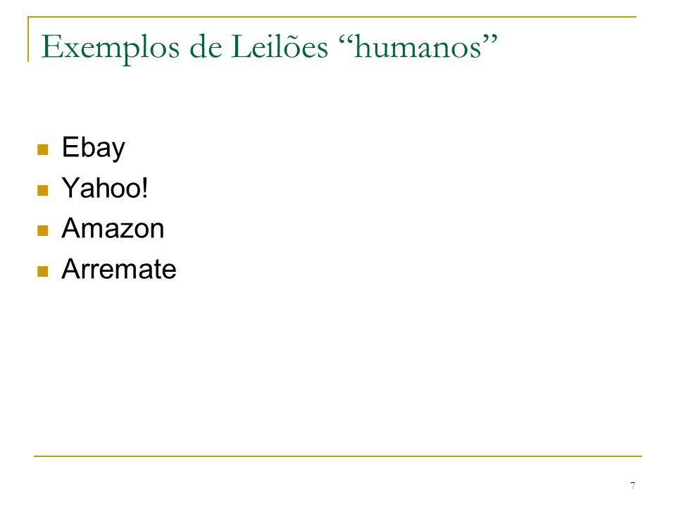 "7 Exemplos de Leilões ""humanos"" Ebay Yahoo! Amazon Arremate"