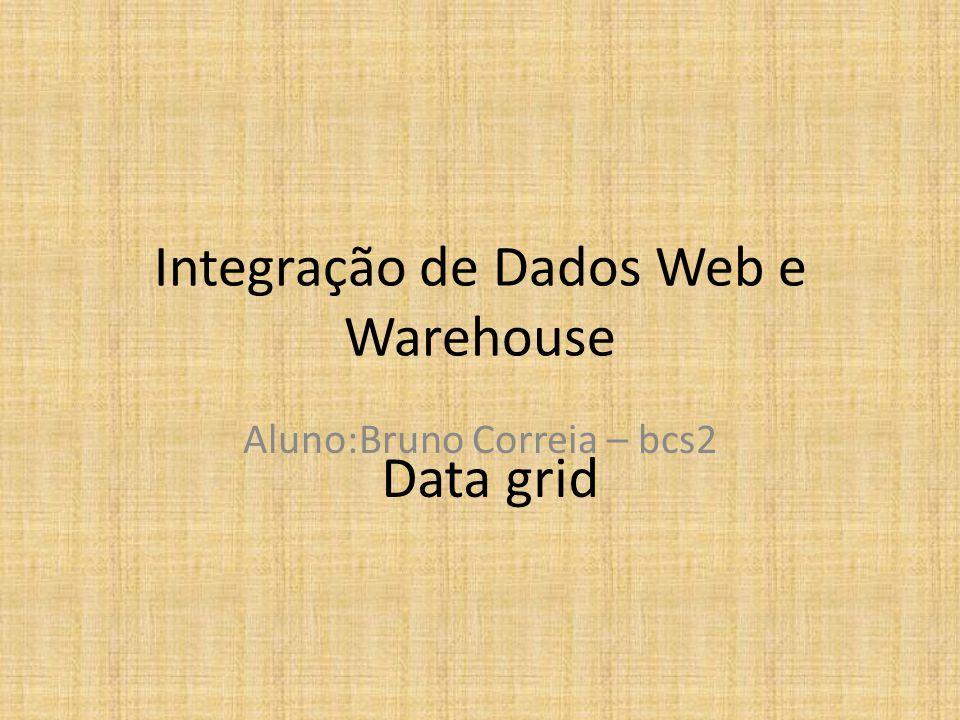 Integração de Dados Web e Warehouse Aluno:Bruno Correia – bcs2 Data grid