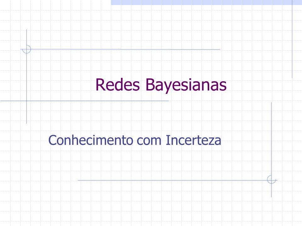 Redes Bayesianas Representa a distribuição de probabilidade conjunta entre todas as variáveis: P(y 1 ^...^y n )  Exemplo: P(Tempestade, , Fogo na Floresta).