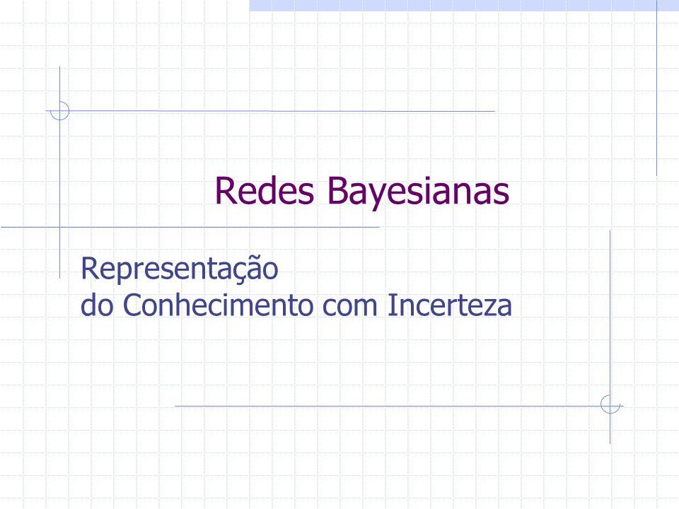 Redes Bayesianas Representação do Conhecimento com Incerteza