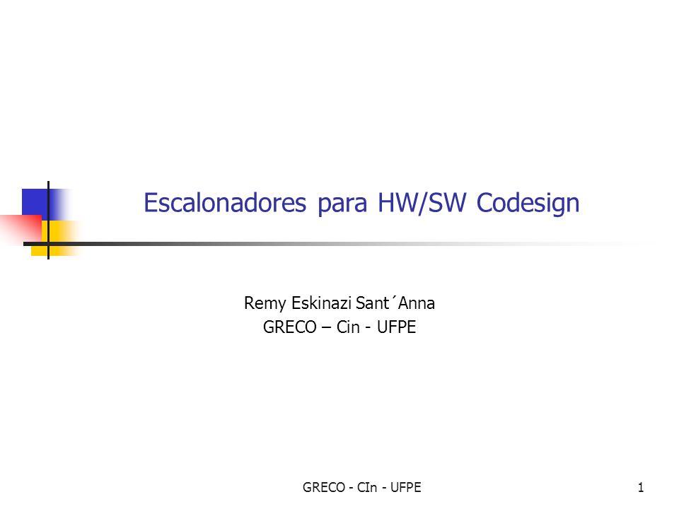 GRECO - CIn - UFPE1 Escalonadores para HW/SW Codesign Remy Eskinazi Sant´Anna GRECO – Cin - UFPE