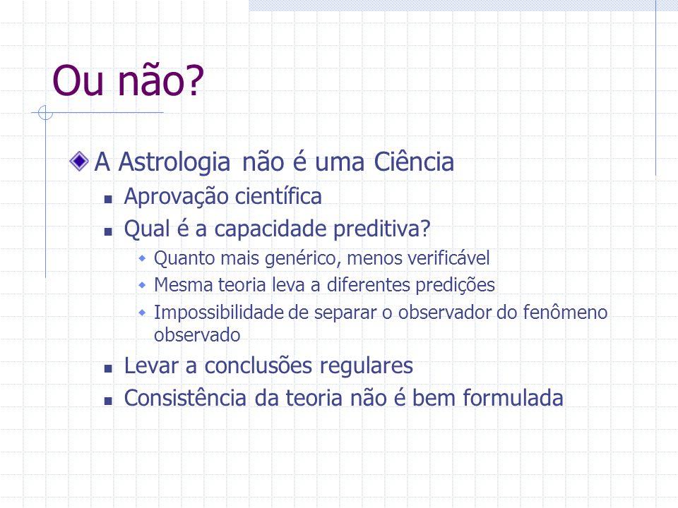 Ou não.A Astrologia não é uma Ciência Aprovação científica Qual é a capacidade preditiva.
