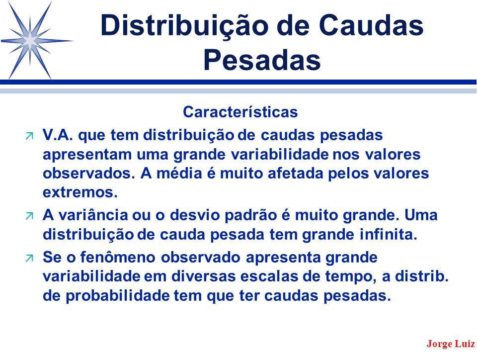 Distribuição de Caudas Pesadas Características ä V.A.