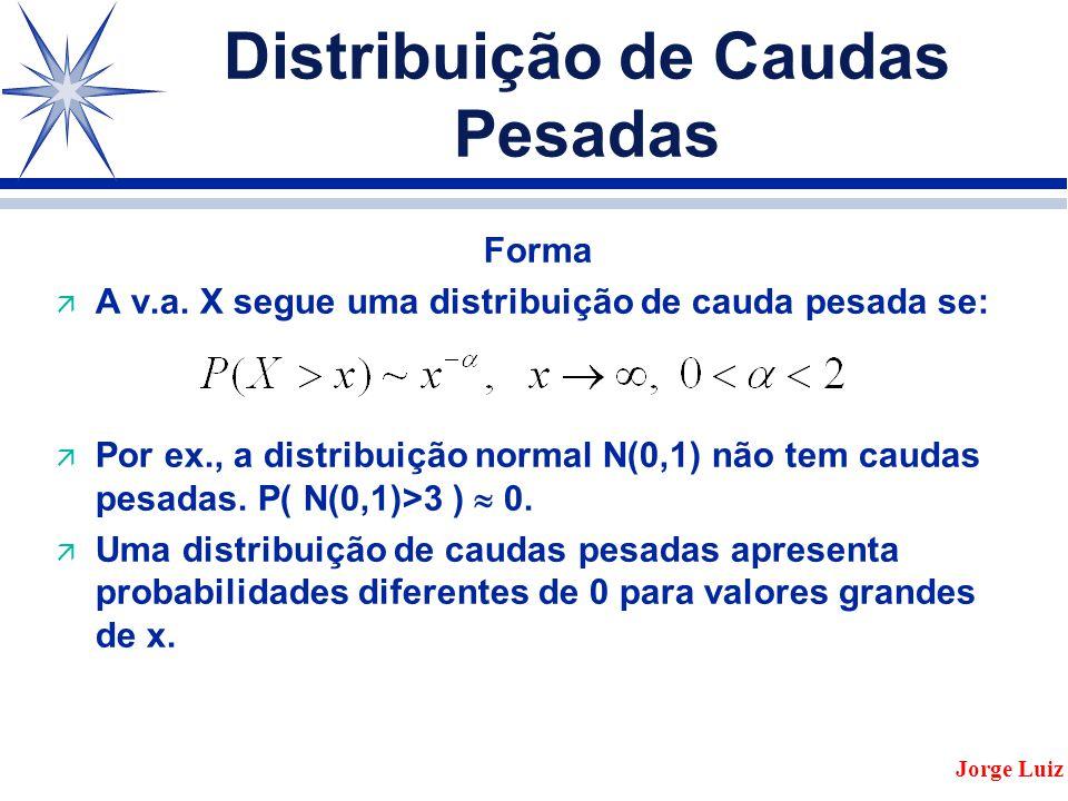 Distribuição de Caudas Pesadas Forma ä A v.a.