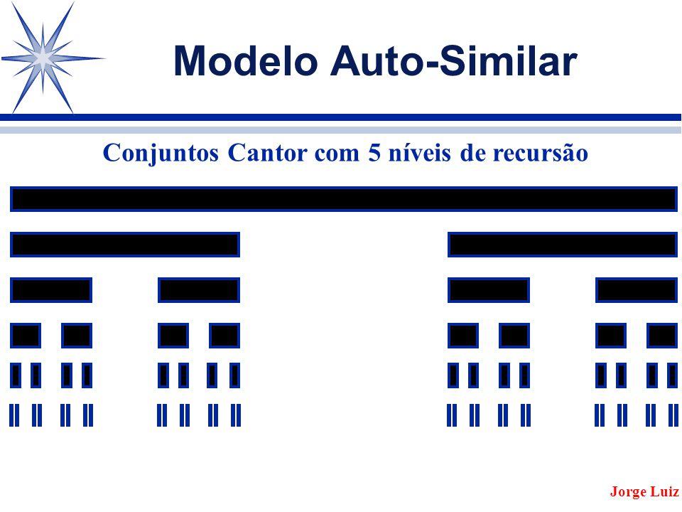 Modelo Auto-Similar Jorge Luiz Conjuntos Cantor com 5 níveis de recursão